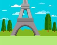 Часть башни Eifel иллюстрация штока