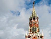 Часть башни Spasskaya Москвы Кремля Стоковая Фотография RF