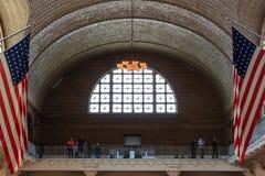 Часть балкона большого зала музея иммиграции на e Стоковые Изображения