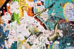 Часть Берлинской стены с граффити Стоковая Фотография