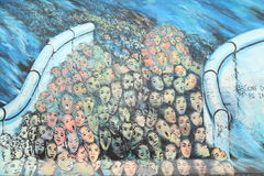 Часть Берлинской стены Стоковое Изображение RF