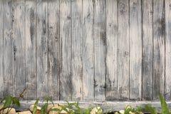 Часть белой деревянной двери Стоковые Изображения