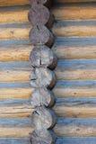 часть блокгауза деревянная Стоковые Фотографии RF