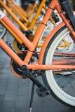 Часть велосипеда в городе стоковые изображения