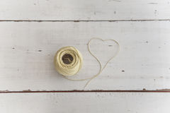 Часть веревочки формируя форму сердца Стоковые Изображения