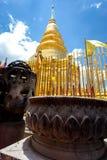 Часть виска Wat Phra то Haripunchai в Lamphun Стоковая Фотография