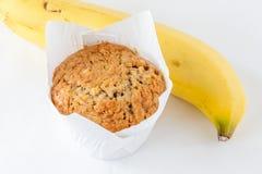 Часть вкусной булочки банана и банана ключевого ингридиента зрелого Стоковое Фото