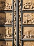 Часть внешних восточных дверей баптистерего Стоковая Фотография