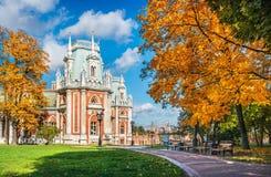 Часть дворца в Tsaritsyno стоковая фотография