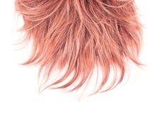 Часть волос над белизной Стоковое Фото