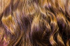 Часть вьющиеся волосы как текстура Стоковое фото RF