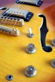 Часть гитар винтажного полу-полого тела электрических Стоковое Изображение