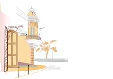 часть города старая иллюстрация вектора