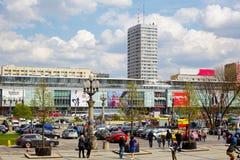Часть городского комплекса зданий, Варшавы Стоковое Изображение RF