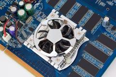 Часть графической карточки для персонального компьютера Стоковая Фотография