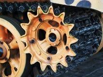 Часть гусеницы танка Стоковые Изображения