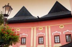 Часть главной площади исторического городка Spisska Sobota, в настоящее время района города Poprad Стоковые Изображения RF