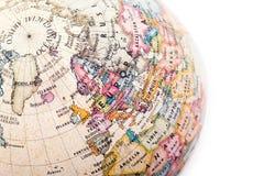 Часть глобуса земли Стоковая Фотография