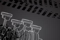 часть двигателя Стоковое фото RF