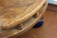 Часть деревянного стола стоковые фотографии rf