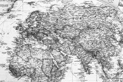 Часть детальной карты мира иллюстрация вектора