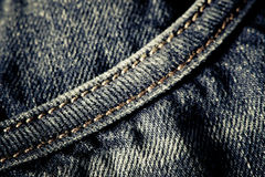 часть джинсовой ткани сырцовая Стоковые Изображения RF