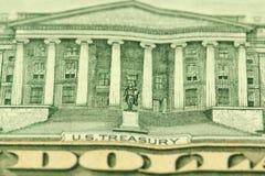 Часть деноминации 10 долларов Стоковые Изображения