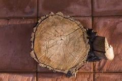 Часть деревянного хобота на fllor Взгляд сверху Абстрактная принципиальная схема te Стоковые Изображения RF