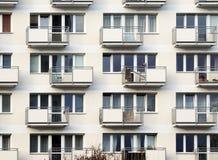 Часть жилого блока квартир Стоковые Изображения
