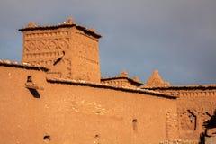 Часть замка Ait Benhaddou, укрепленного города, forme Стоковые Изображения RF