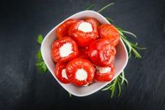 Часть заполненного болгарского перца Стоковое Изображение RF