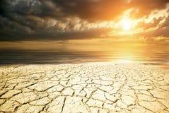 Часть земли пустыни стоковые фотографии rf