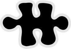 часть зигзага иконы Стоковое Изображение