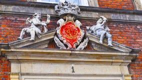 Часть здания канцлерского суда в Копенгагене Стоковое Изображение