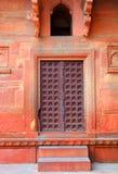 Часть здания с дверью в Индии стоковые изображения rf