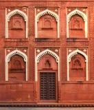 Часть здания с дверью в Индии стоковая фотография rf