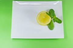 Часть лимона и мяты Стоковое Изображение RF