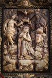 Часть интерьера католической базилики стоковое фото rf