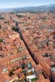 Часть исторического центра Bologna, Италии Стоковая Фотография