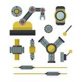 Часть иллюстрации вектора индустрии механического оборудования шестерни детали работы производства машинного оборудования Стоковое Изображение RF