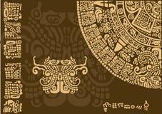 Часть календаря старых цивилизаций Стоковые Фотографии RF