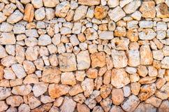 Часть каменной стены, для предпосылки или текстуры Стоковая Фотография