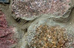 Часть каменной стены Стоковая Фотография