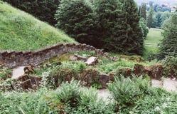Часть каменных старых этапов Стоковое фото RF