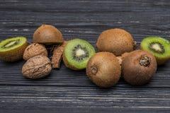 Часть кивиа и кокоса Стоковое фото RF