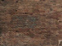 Часть кирпичной стены покрашенной коричневым цветом пусто стоковые фото