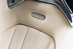 Часть кожаных деталей автокресла Стоковое Изображение RF