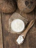 Часть кокосового масла стоковые изображения rf