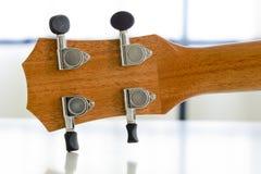 Часть конца-вверх гитары гавайской гитары Стоковая Фотография RF