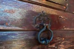 Часть коричневых деревянных дверей Стоковое Изображение